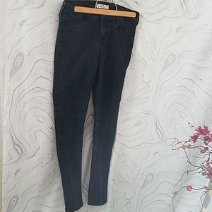 Hollister black wash super  skinny jeans, size 9R